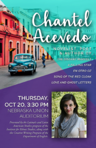 Poster for Chantel Acevedo reading