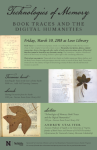 Poster for Book Traces event