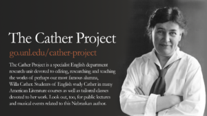 Promotional image for the Cather Project