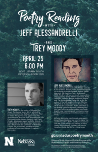 Poster for Jeff Alessandrelli and Trey Moody reading