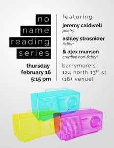 Poster for No Name Reading Series