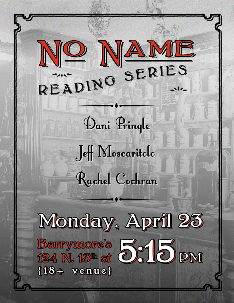 Poster for No Name Reading at Barrymore's