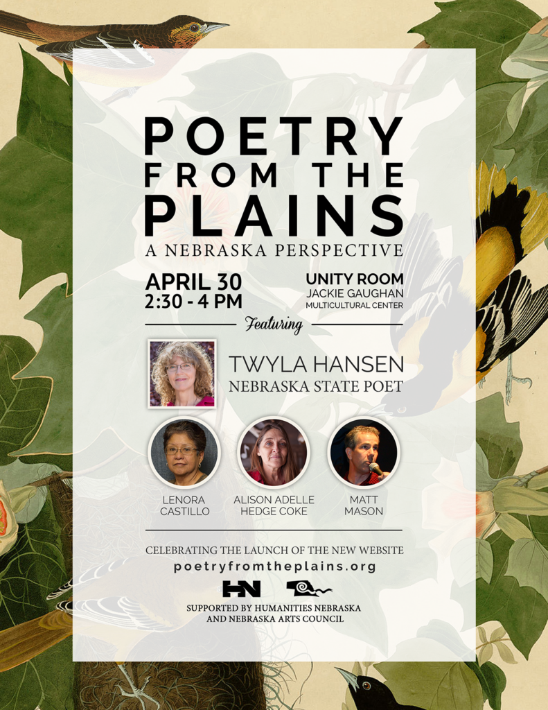 Poster for Poetry from the Plains project launch