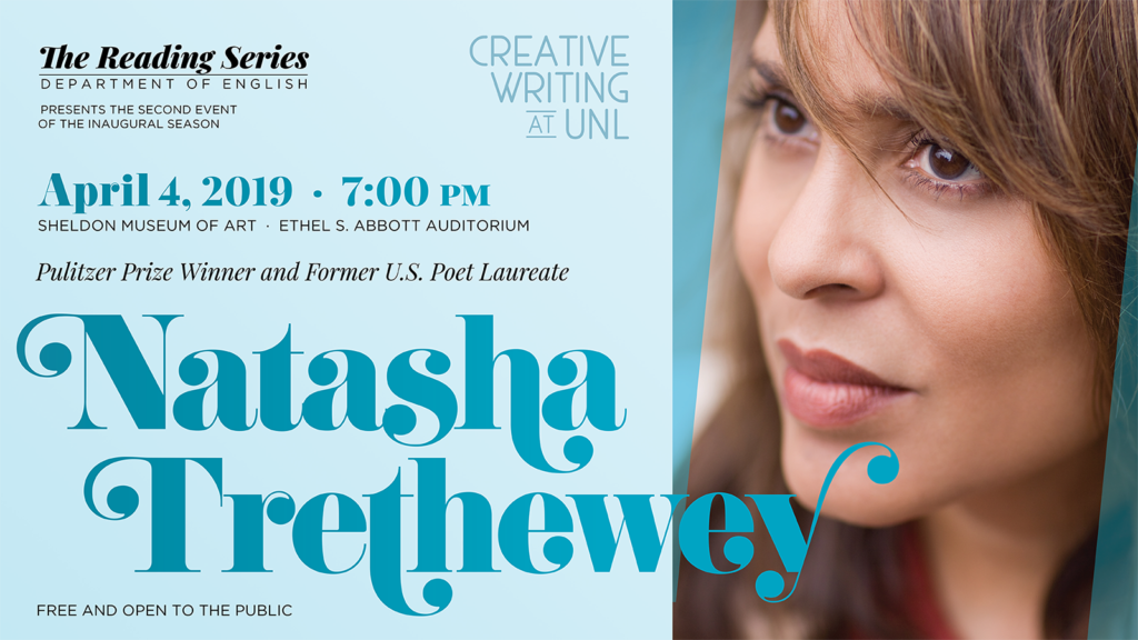 Poster for a reading by Natasha Trethewey at the University of Nebraska