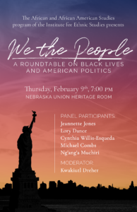 Poster for We the People roundtable