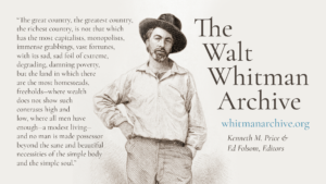 Promotional image for the Walt Whitman Archive