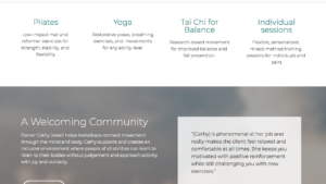Mindful Movement Homepage part 2