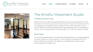 Mindful Movement Studio page