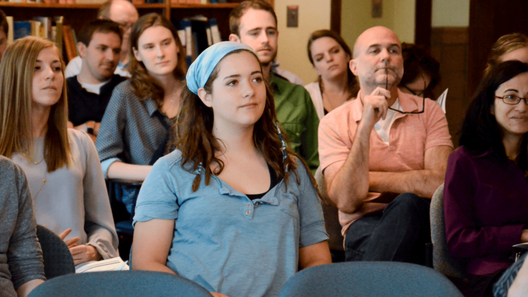 Audience at a poetry reading